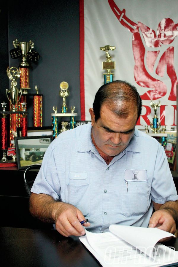 <strong>1. </strong>Atlas Spring owner Juan F. Gutierrez uses vehicle information, an extensive database, and years of spring-building experience to blueprint a set of custom springs.